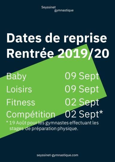 Communiqué dates reprise