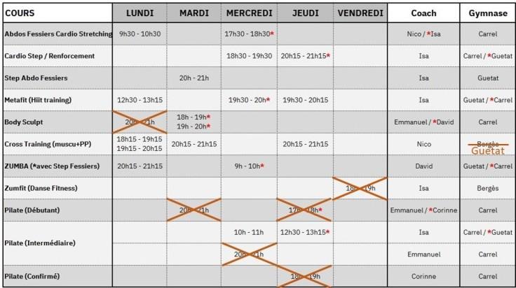Planning FIT 02 au 06.03