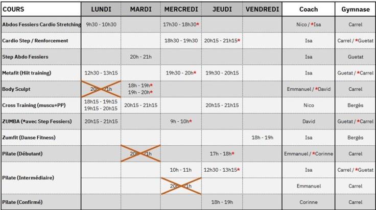Planning FIT 24 au 28.02
